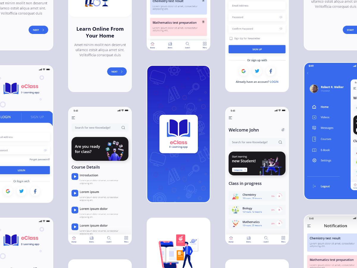 E-Learning App Concept